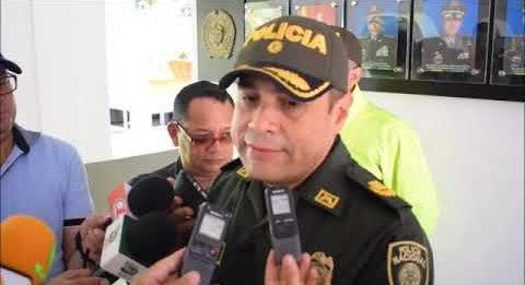 Coronel Dario Enrique López Mosquera Comandante del departamento de Policía Arauca