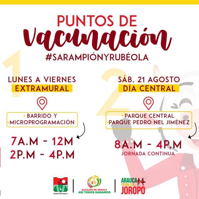 Jornada nacional de vacunación regular en Arauca - Noticias de Colombia